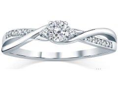 Silvego Stříbrný prsten s krystaly Swarovski FNJR085sw 53 mm