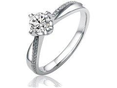 Silvego Stříbrný zásnubní prsten SHZR302 59 mm