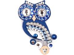 Sovičky Malá soví brož modrá
