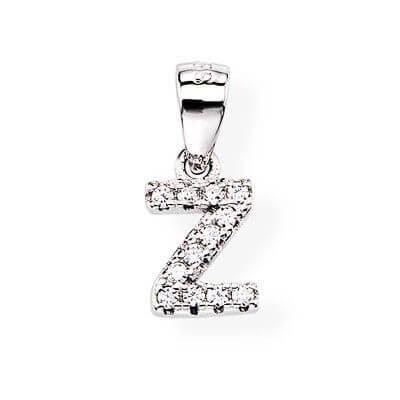 Amen Stříbrný přívěsek se zirkony Písmeno Z Letterami L-Z