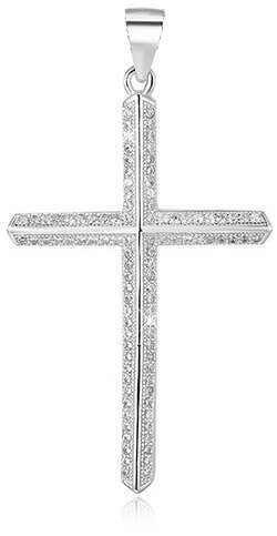 Beneto Stříbrný přívěsek Křížek AGH94