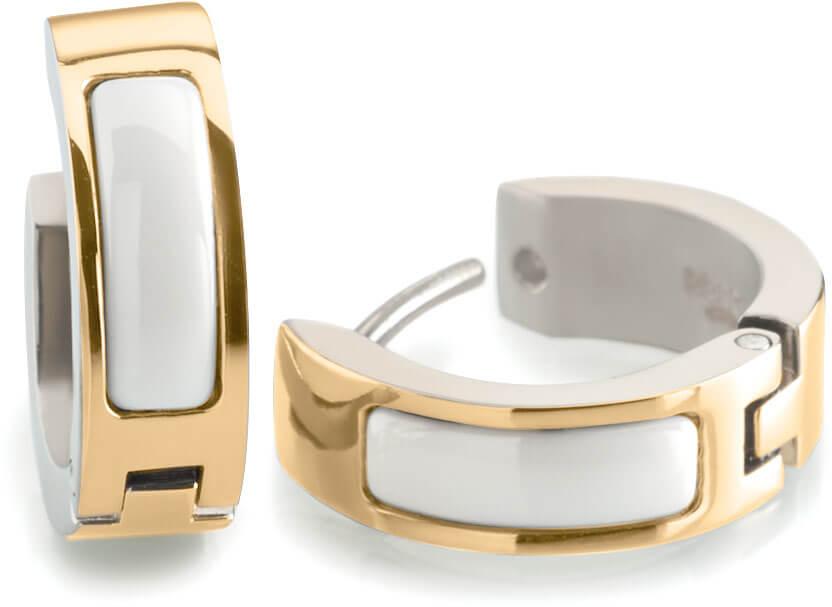 Boccia Titanium Pozlacené titanové kroužky 0593-03 - Šperky Náušnice