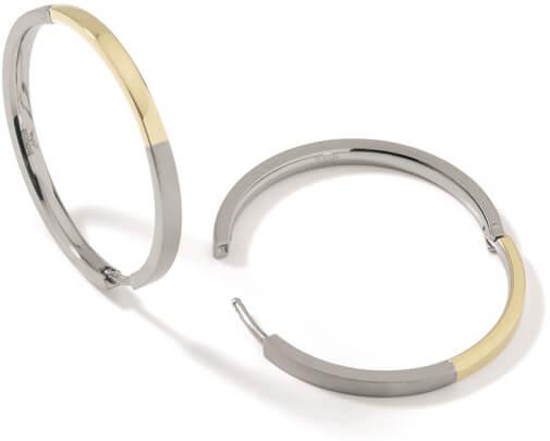 Boccia Titanium Pozlacené titanové kruhy 0516-02 - Šperky Náušnice