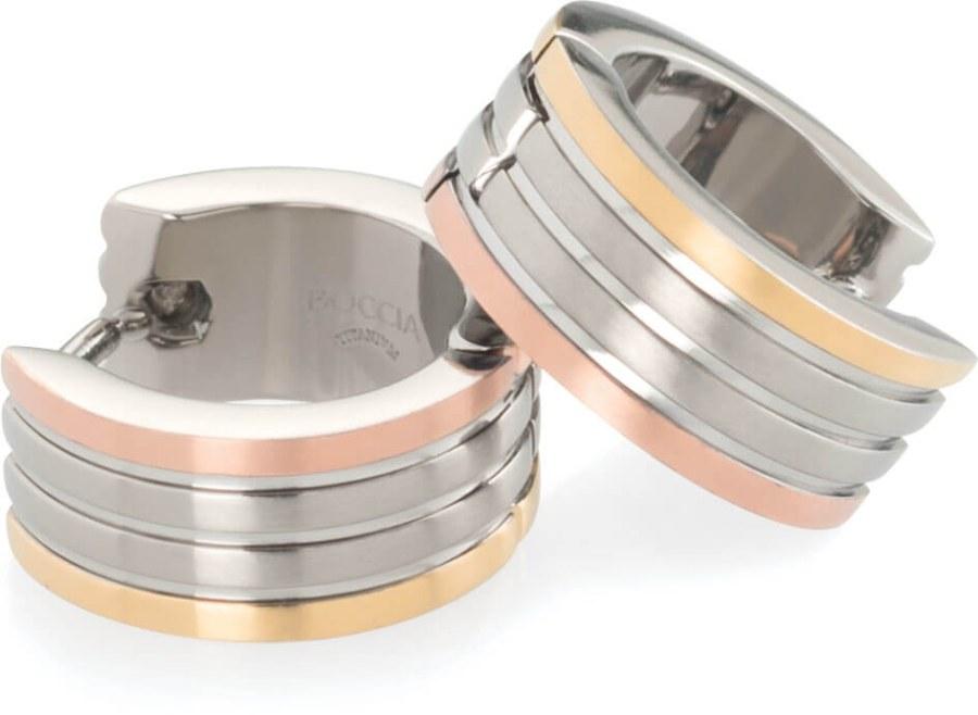 Boccia Titanium Pozlacené titanové kruhy 0592-02