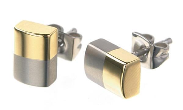 Boccia Titanium Pozlacené titanové náušnice 0509-03