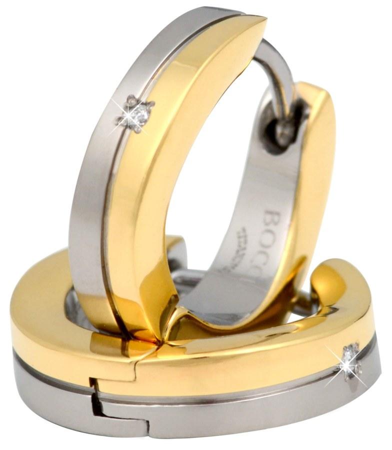 Boccia Titanium Titanové elegantní náušnice s brilianty 0563-04