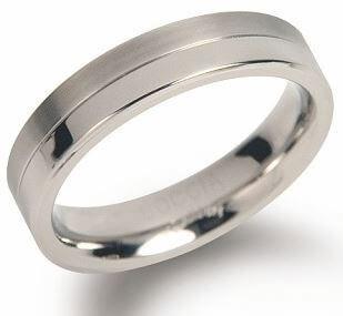 Boccia Titanium Snubní titanový prsten 0129-01 58 mm
