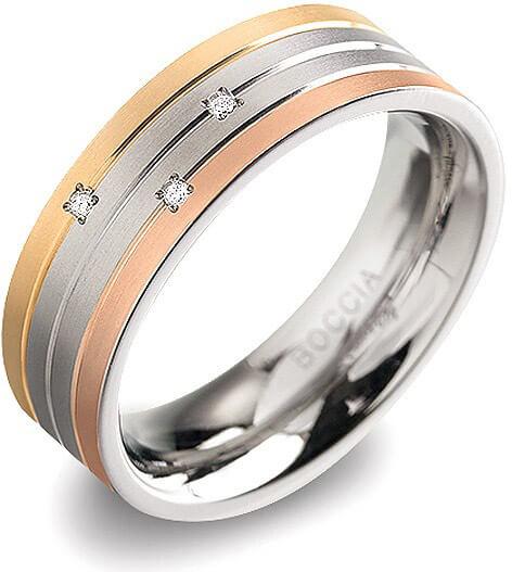 Boccia Titanium Titanový prsten s brilianty 0135-02 61 mm