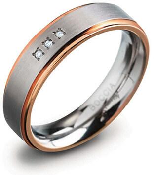 Boccia Titanium Titanový snubní prsten 0134-02 59 mm