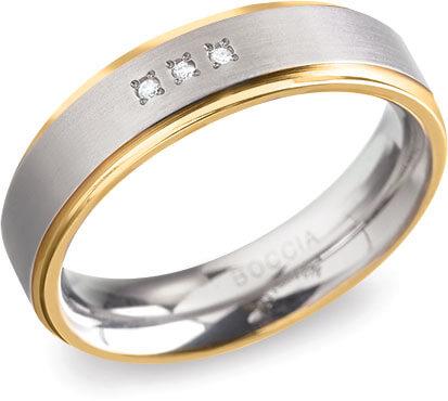 Boccia Titanium Titanový snubní prsten 0134-04 56 mm
