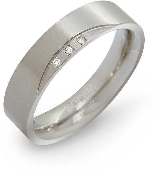 Boccia Titanium Titanový snubní prsten s diamanty 0138-02 56 mm - Prsteny snubní