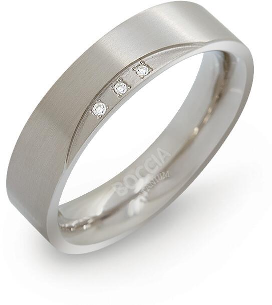 Boccia Titanium Titanový snubní prsten s diamanty 0138-02 58 mm