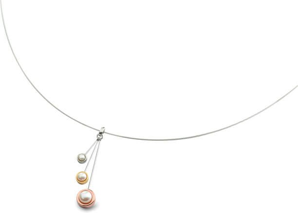 Boccia Titanium Tricolor titanový přívěsek s perličkami 07013-01