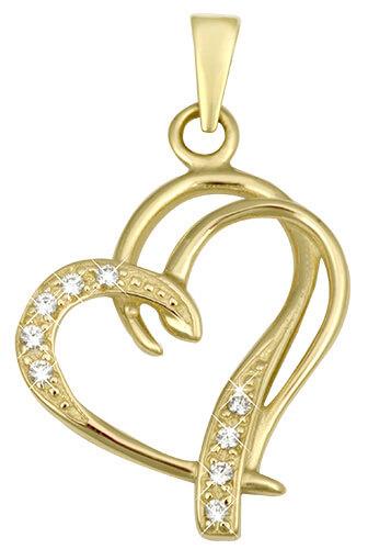 Brilio Módní zlatý přívěsek Srdce 249 001 00431 - Šperky Přívěsky