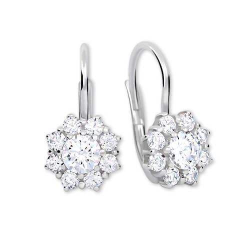 Brilio Silver Stříbrné náušnice s krystaly 436 001 00322 04 - čiré