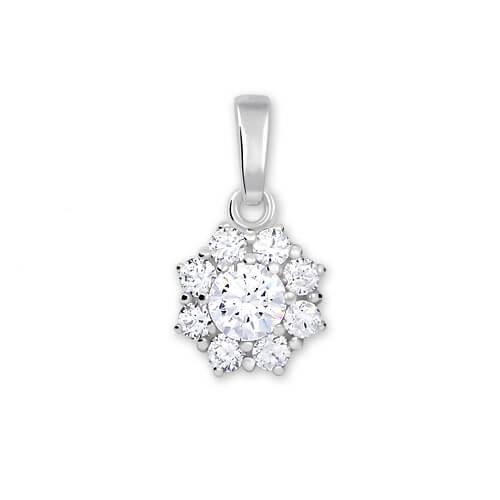 Brilio Silver Stříbrný přívěsek s krystalem 446 001 00314 04 - čirý