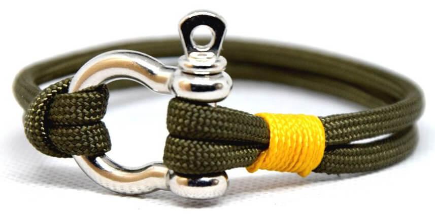 Cordell Módní náramek Slim N - oliva/žlutá