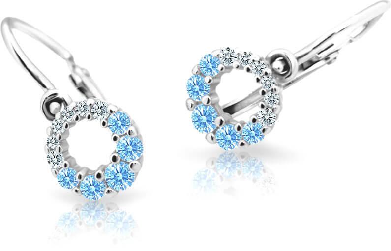 Cutie Jewellery Dětské náušnice C2154-10-X-2 světle modrá - Šperky Náušnice