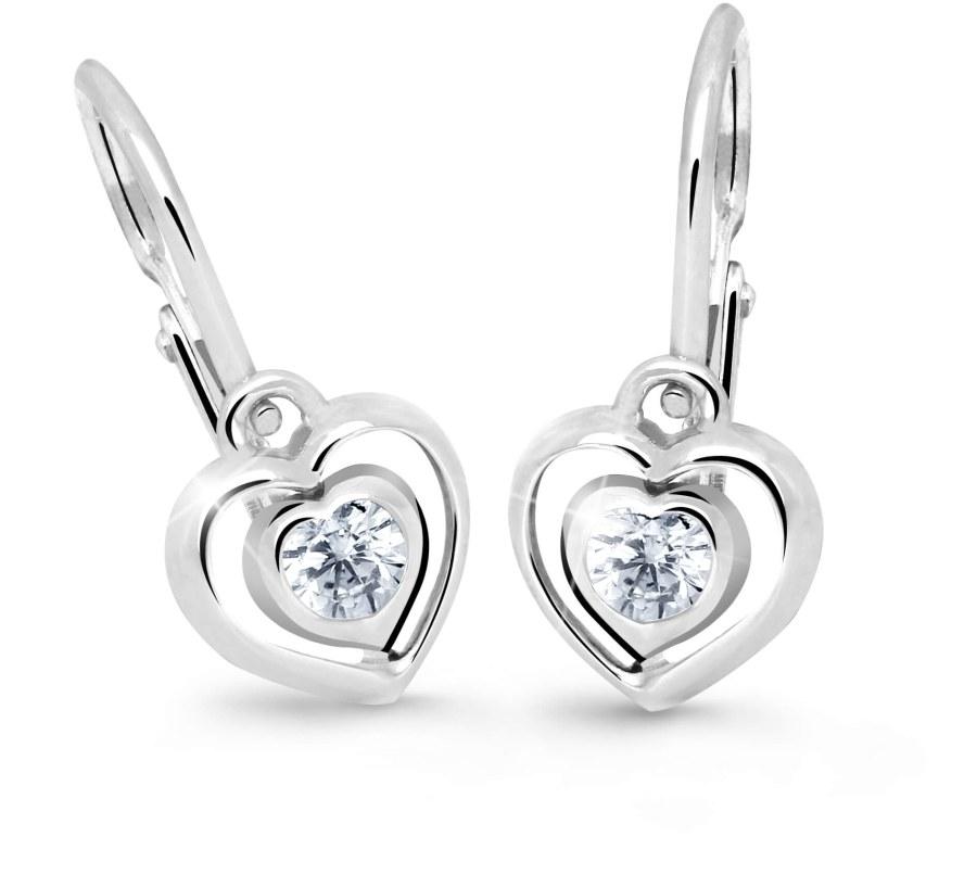 Cutie Jewellery Dětské náušnice srdíčka C2752-10-X-2 modrá