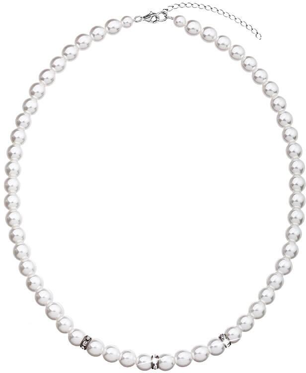 Evolution Group Perlový náhrdelník 32012.1 bílá - Šperky Náhrdelníky