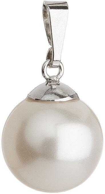 Evolution Group Přívěsek s perličkou 34151.1 bílá - Šperky Přívěsky