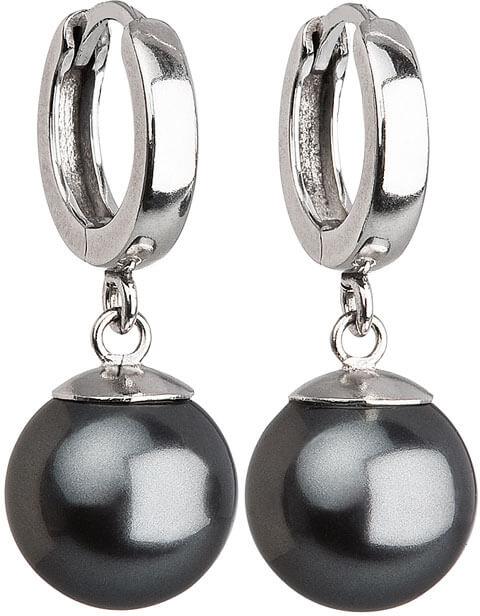 Evolution Group Stříbrné náušnice s perlou 31151.3 grey - Šperky Náušnice