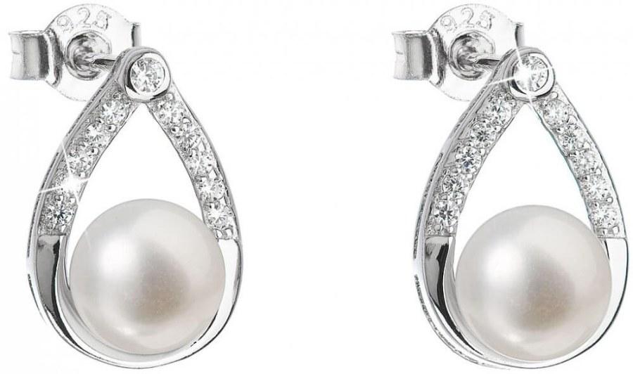 Evolution Group Stříbrné náušnice s pravými perlami Pavona 21033.1
