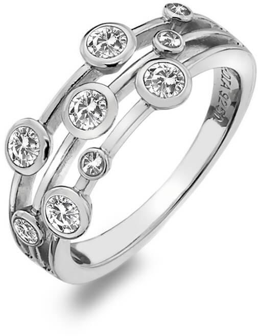 Hot Diamonds Luxusní stříbrný prsten s topazy a diamantem Willow DR207 59 mm