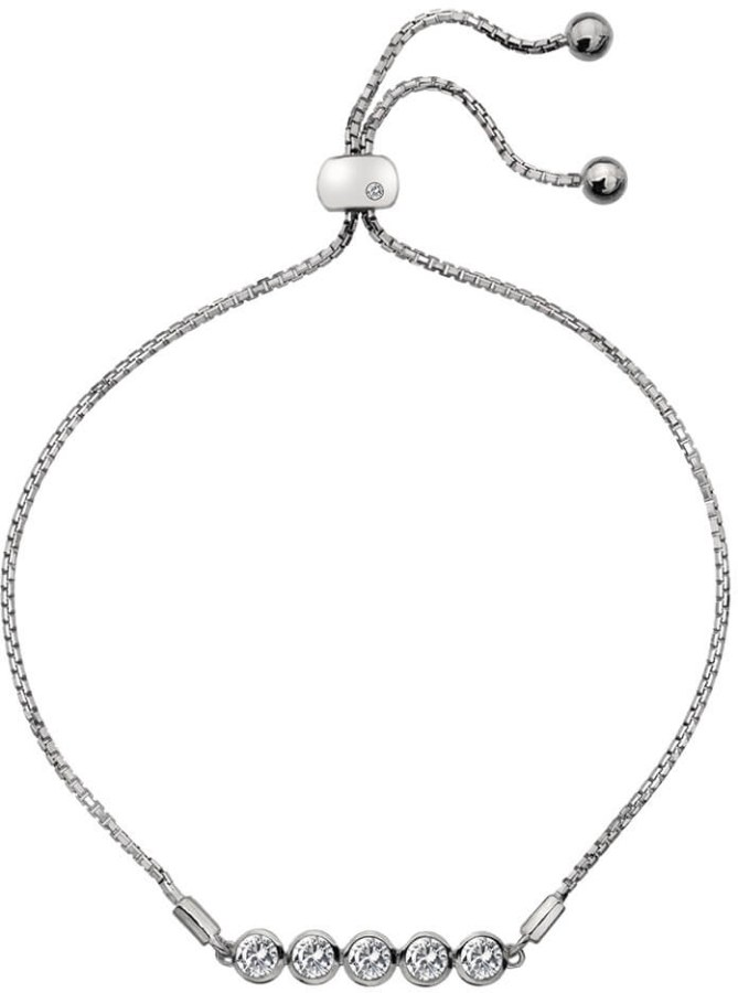 abd5c76a9 Hot Diamonds Něžný stříbrný náramek s topazy a pravým diamantem Willow DL581