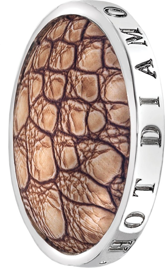 Hot Diamonds Přívěsek Emozioni Faux Crocodile Light Brown EC082-092 25 mm - Přívěsky