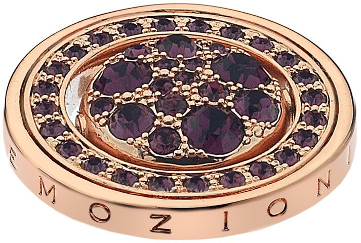Hot Diamonds Přívěsek Hot Diamonds Emozioni Alba e Tramonto Rose Gold Coin EC247-253 33 mm
