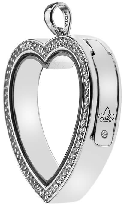 Hot Diamonds Přívěsek na elementy Anais Srdce s krystaly a diamantem EX011