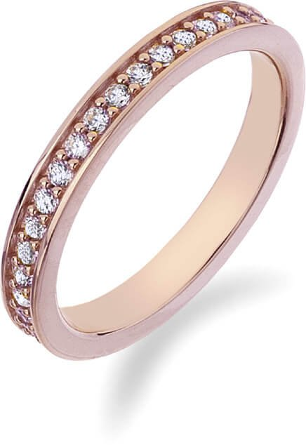 Hot Diamonds Prsten Emozioni Infinito Rose Gold ER008 53 mm - Prsteny