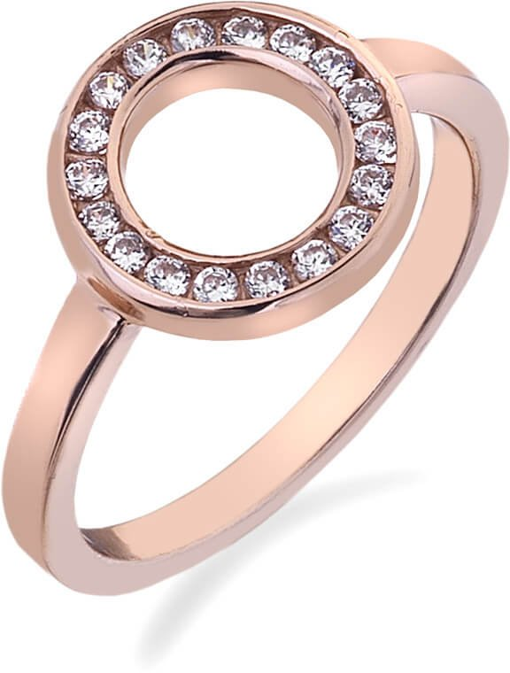 Hot Diamonds Prsten Emozioni Saturno Rose Gold ER002 53 mm