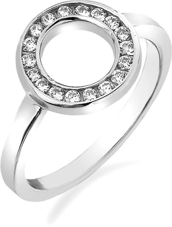 Hot Diamonds Prsten Emozioni Saturno Silver ER001 52 mm - Šperky Prsteny
