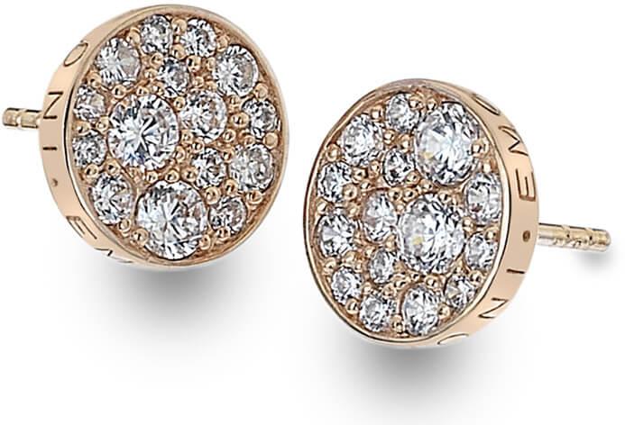 Hot Diamonds Stříbrné náušnice Hot Diamonds Emozioni Scintilla Rose Gold DE457 - Šperky Náušnice