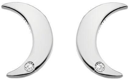 Hot Diamonds Stříbrné půlměsícové náušnice s pravými diamanty Amulets DE588