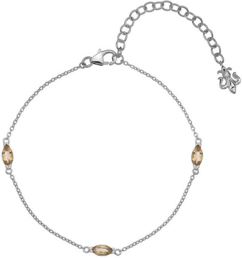 Hot Diamonds Stříbrný náramek pro narozené v listopadu Anais Citrin AB011