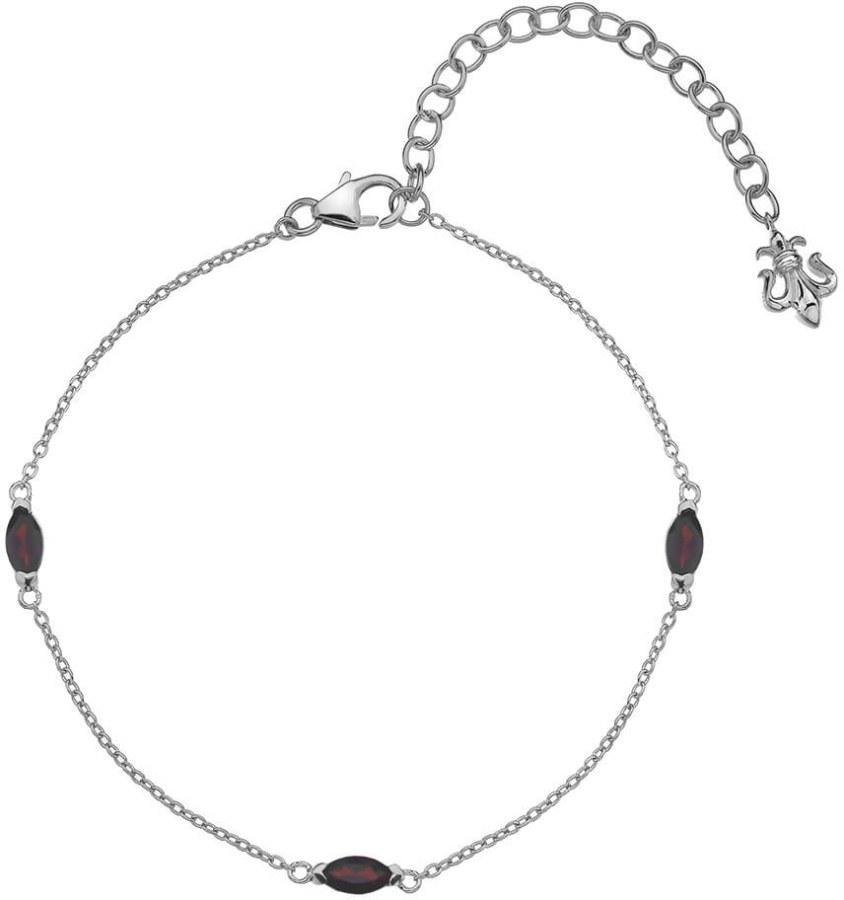 Hot Diamonds Stříbrný náramek pro narozené v lednu Anais Granát AB001