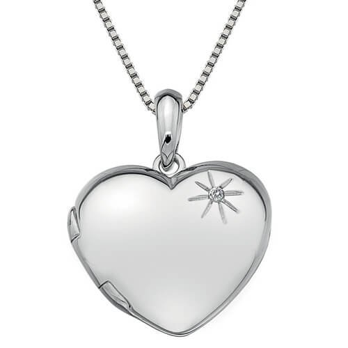 Hot Diamonds Stříbrný náhrdelník Hot Diamonds Memoirs Heart Locket DP495