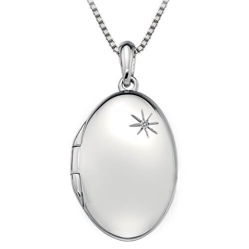 Hot Diamonds Stříbrný náhrdelník Hot Diamonds Memoirs Oval Locket DP493