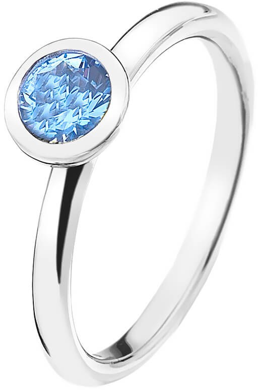 Hot Diamonds Stříbrný prsten Emozioni Scintilla Blue Peace ER022 56 mm