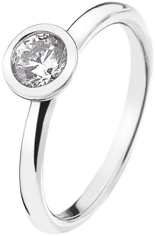 Hot Diamonds Stříbrný prsten Emozioni Scintilla Clear Innocence ER018 55 mm