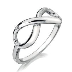 Hot Diamonds Stříbrný prsten Hot Diamonds Infinity DR144 57 mm