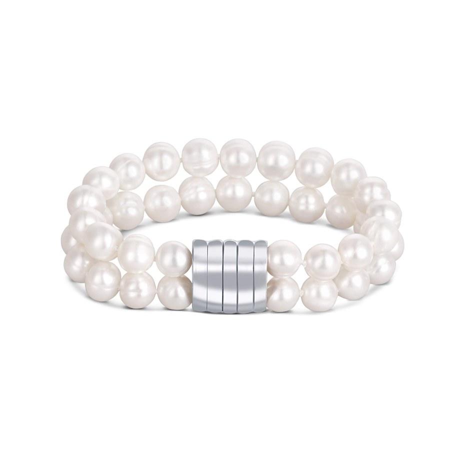 JwL Luxury Pearls Dvojitý náramek z pravých bílých perel JL0598