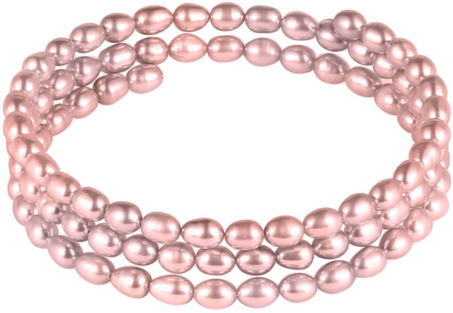 JwL Luxury Pearls Náramek z pravých růžových perel JL0570