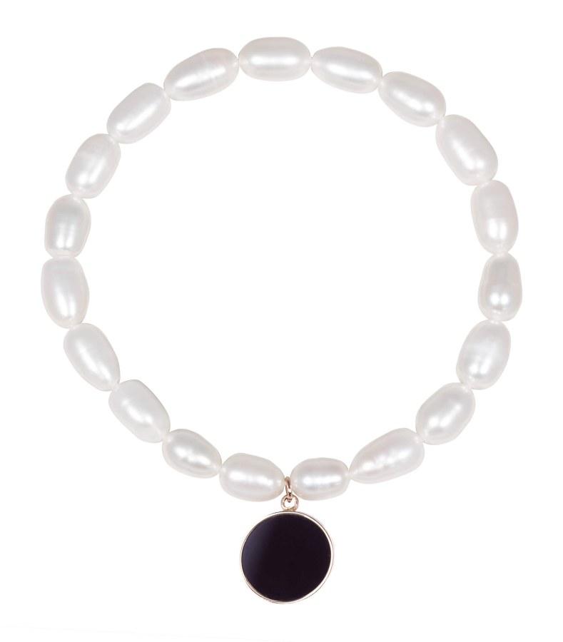 JwL Luxury Pearls Perlový náramek s přívěskem JL0527
