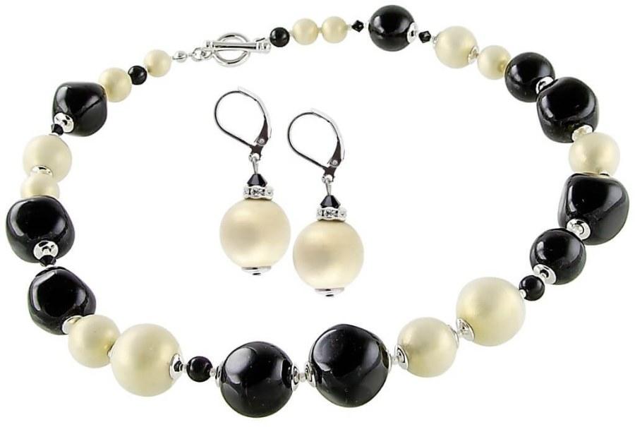 Lampglas Elegantní souprava šperků Ultimate Beauty z perel Lampglas CQ1 (náhrdelník, náušnice)