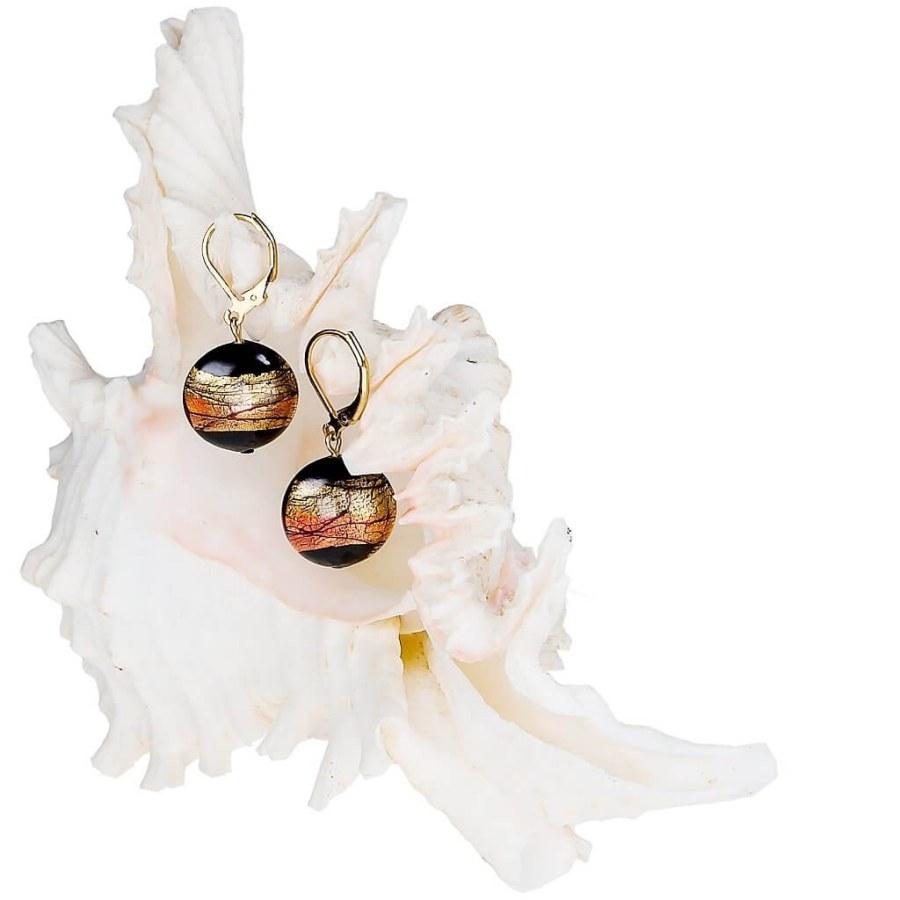 Lampglas Tajemné náušnice Mystery z perel Lampglas s 24karátovým zlatem EP18