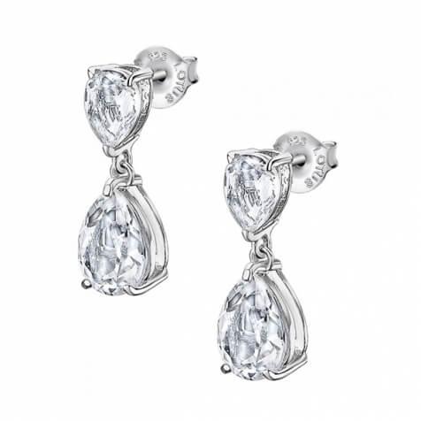 Lotus Silver Luxusní stříbrné náušnice s čirými krystaly Swarovski LP2014-4/1